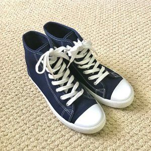 Forever 21 Navy High-Top Sneakers -Size 8